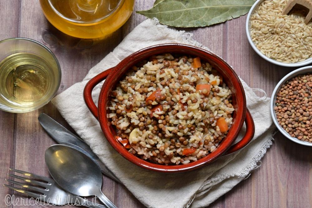 Riso integrale con lenticchie le ricette di elisir