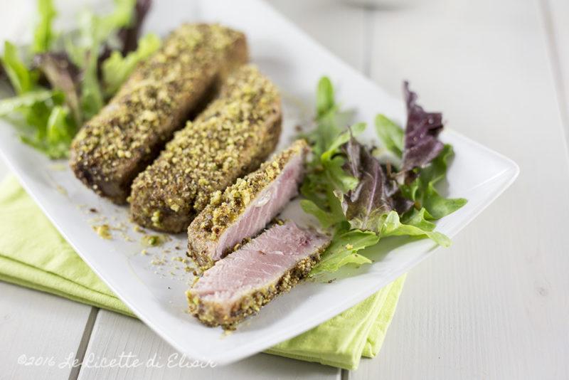 Tagliata di tonno in crosta di pistacchi