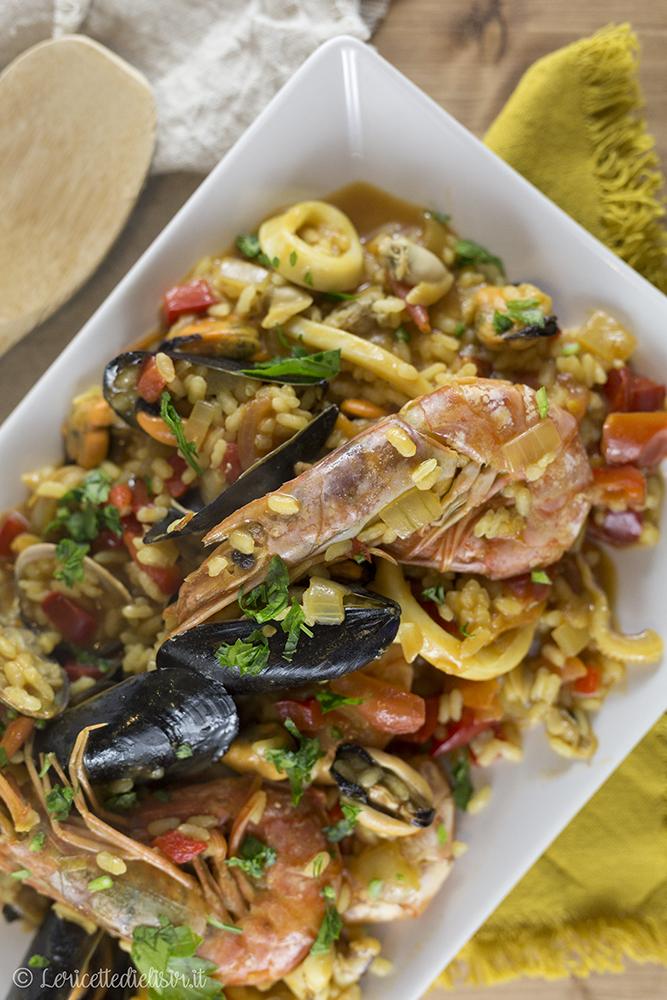 Paella di pesce le ricette di elisir