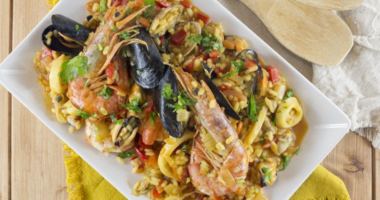 Paella di pesce, ricetta catalana