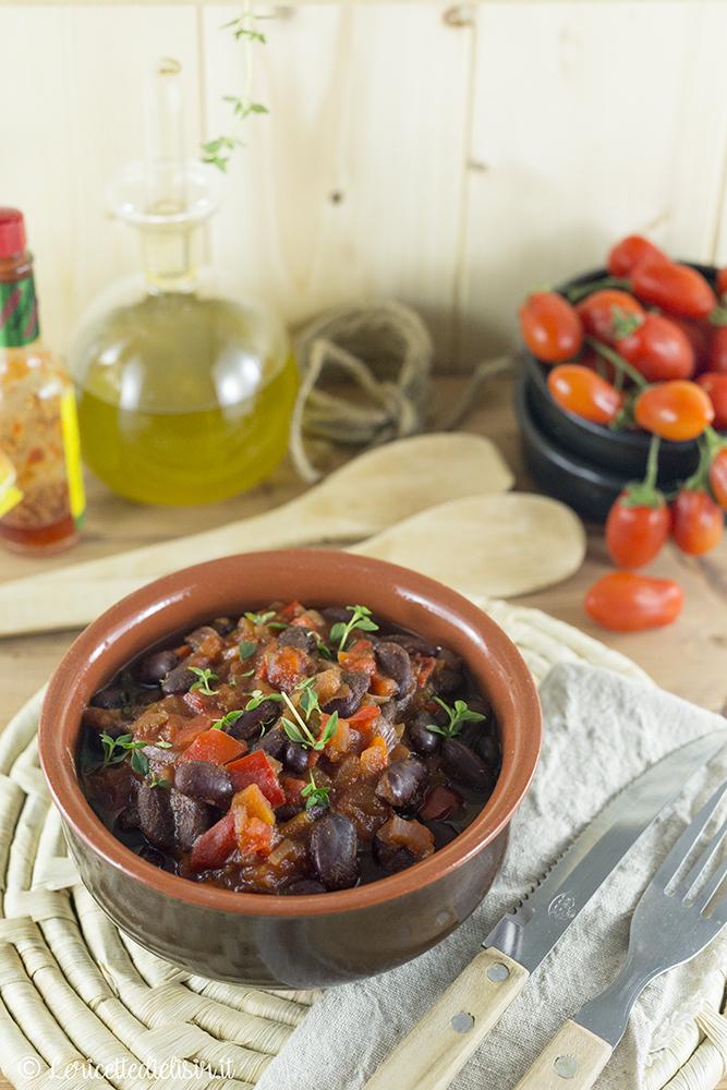 Chili vegetariano di fagioli neri le ricette di elisir