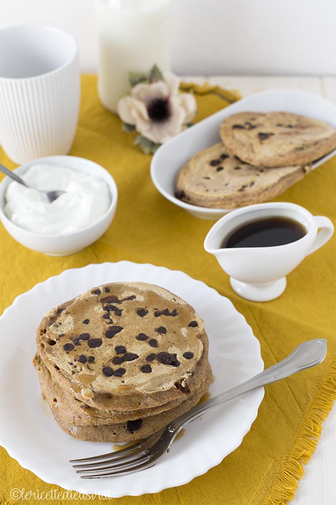 Pancakes alla zucca, gocce di cioccolato e spezie le ricette di elisir