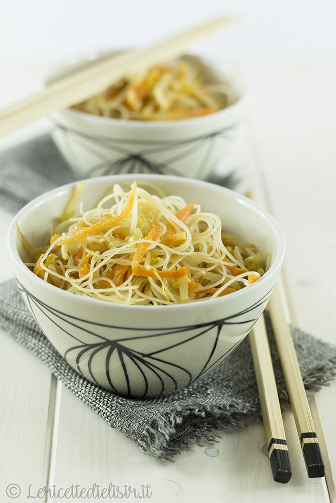 Spaghetti di riso con verdure le ricette di elisir