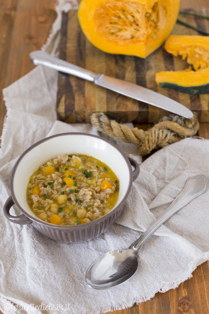 Zuppa di farro con zucca e ceci le ricette di elisir