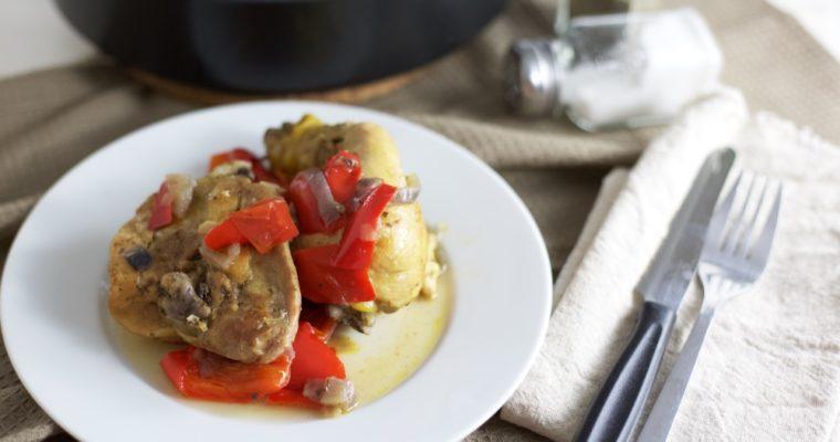 Pollo ai peperoni leggero e gustoso