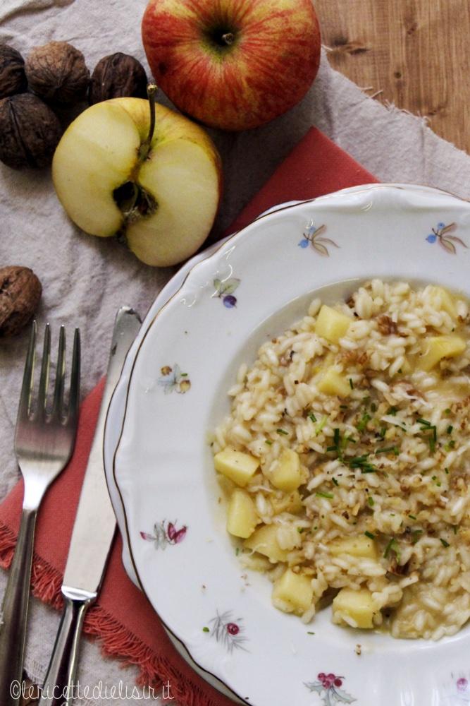 Risotto alle mele e noci le ricette di elisir