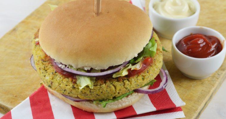 Burger di ceci vegetariano