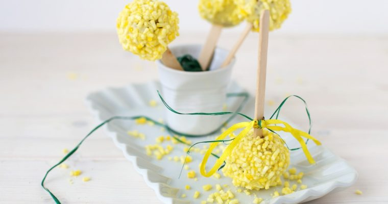 Cake pops mimosa