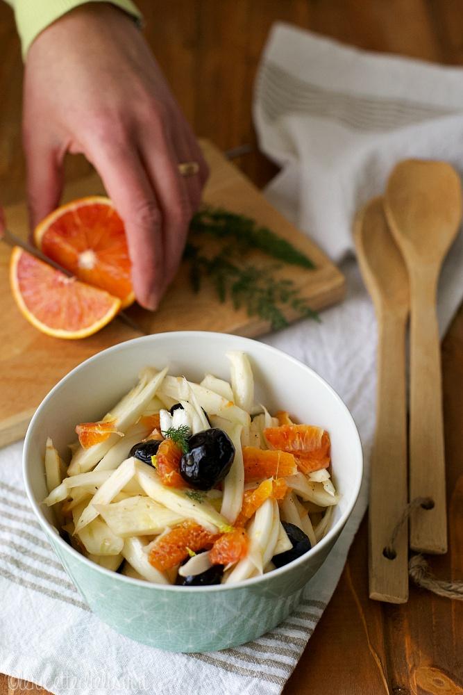 Insalata di finocchi arance e olive nere le ricette di elisir