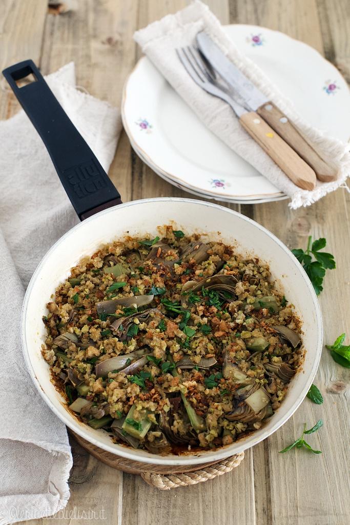 Carciofi gratinati in padella le ricette di elisir