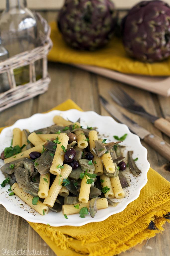 Pasta ai carciofi e olive taggiasche le ricette di elisir
