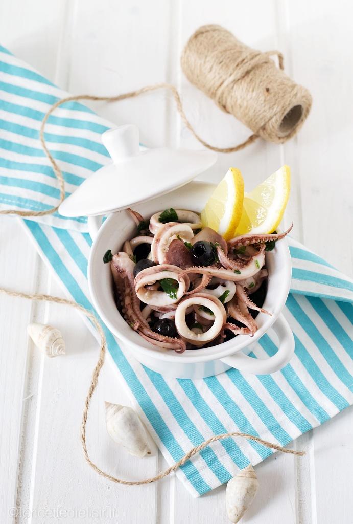 Insalata di totani e olive fredda