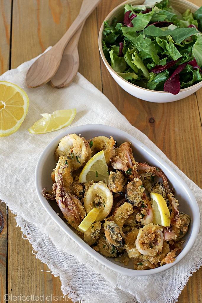 Totani e cozze gratinati al forno le ricette di elisir