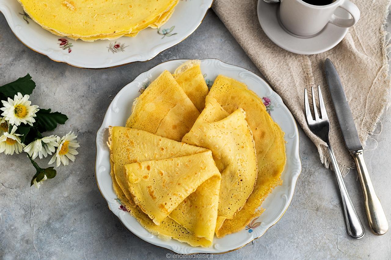 Ricetta crepes classiche dolci o salate