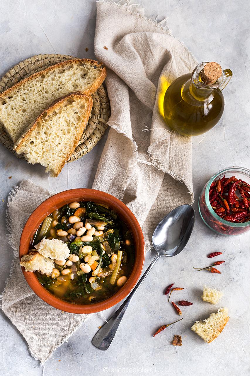 zuppa di bieta e fagioli tondini