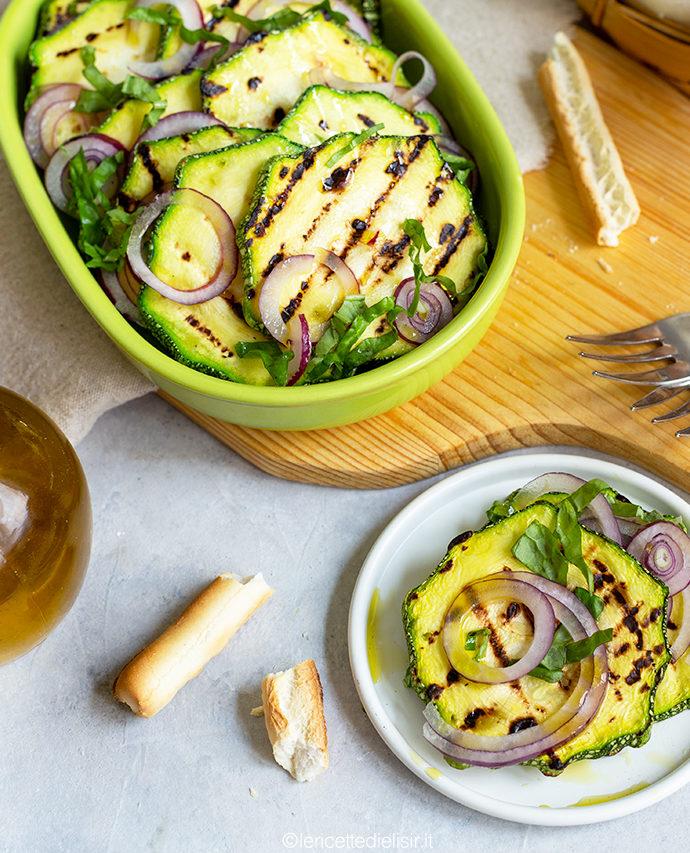 Zucchine grigliate con cipolla di tropea