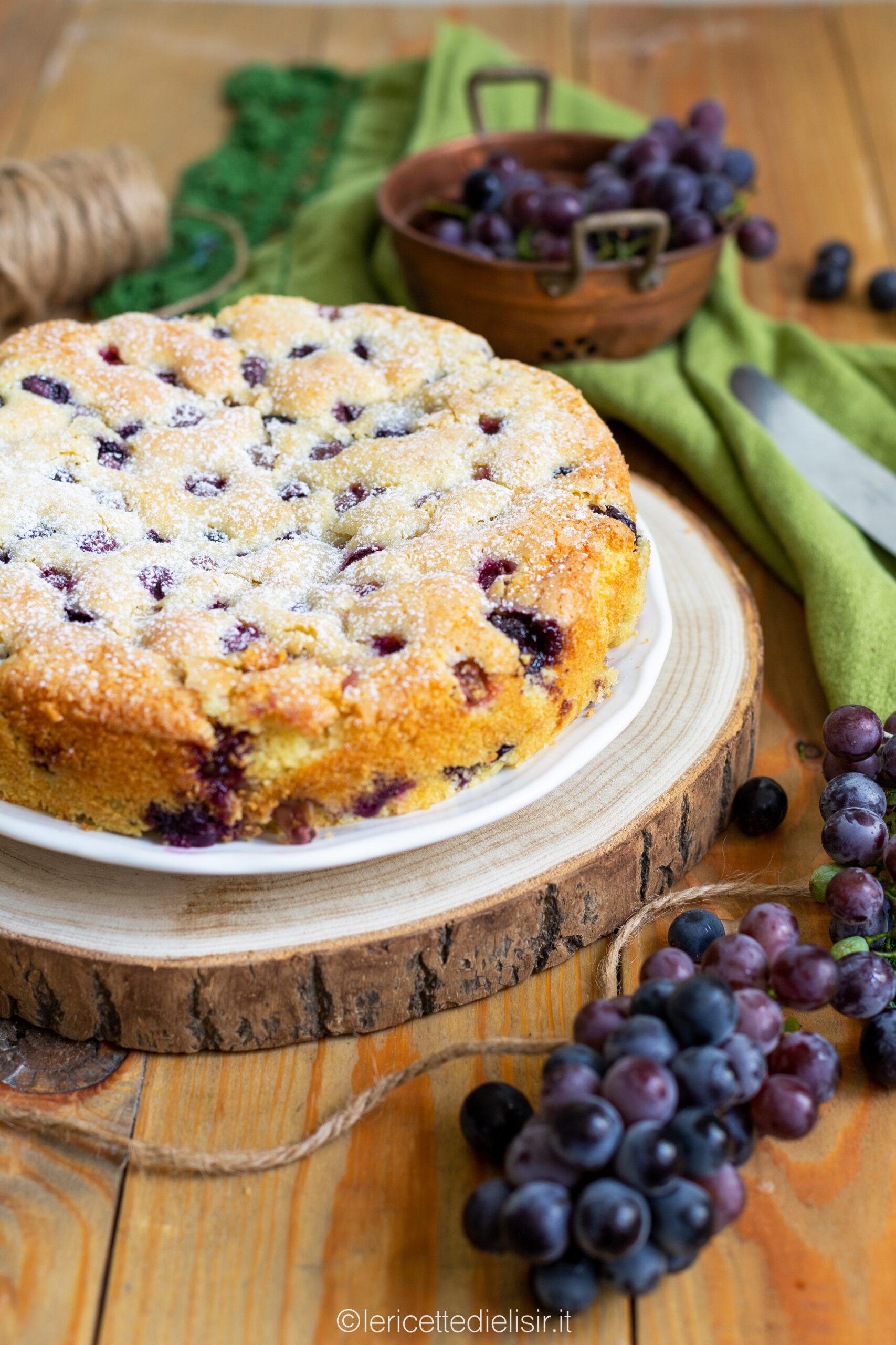 Torta Bertolina dolce all'uva fragola le ricette di elisir