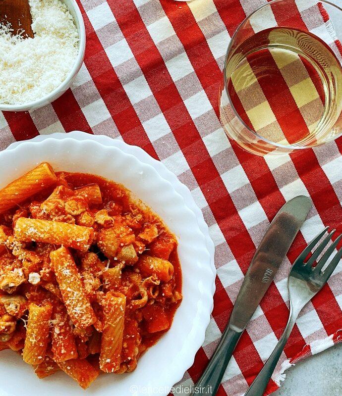 Rigatoni con la pajata ricetta tradizionale Romana