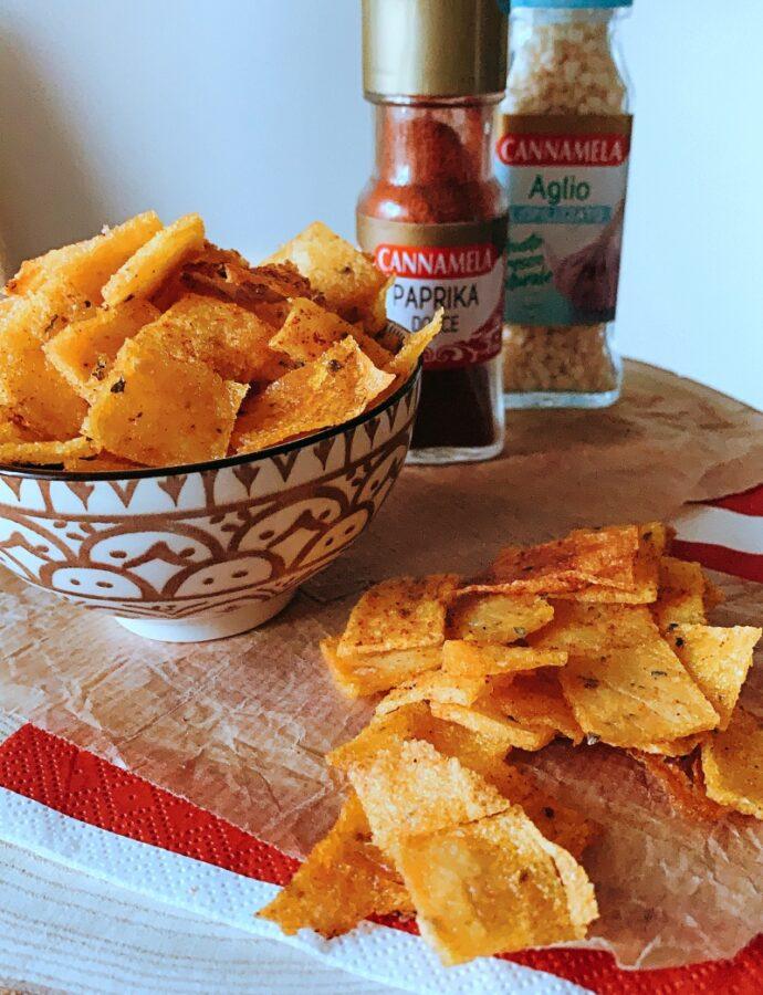 Chips di polenta alla paprika