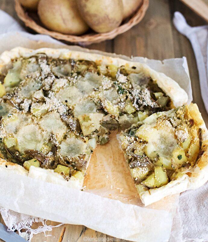 Torta rustica carciofi e patate