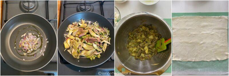 torta rustica carciofi e patate passaggi le ricette di elisir