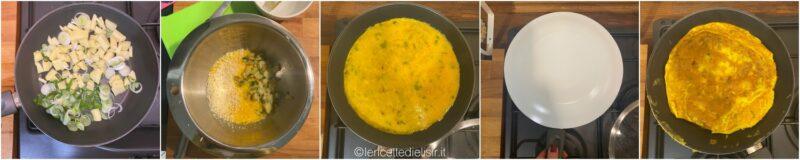 Frittata di cipollotti e patate, ricetta veloce