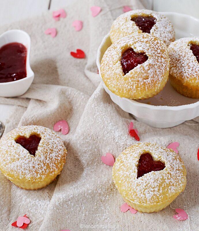 Ricetta muffin cuore di fragola