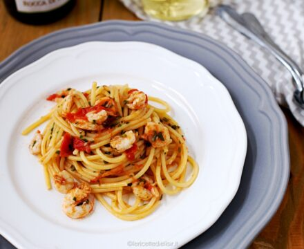 Pasta gamberi e pomodorini, ricetta primo