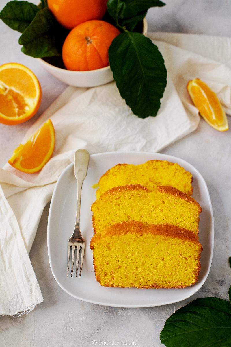 Plumcake all'arancia dolce soffice e profumato