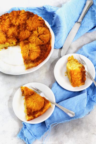 Torta rovesciata all'arancia deliziosa