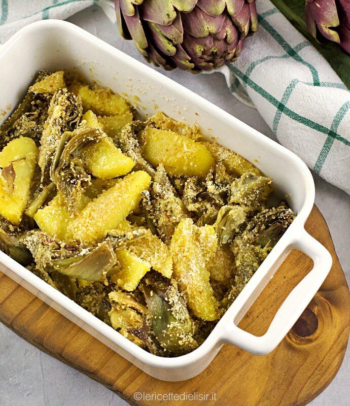 Carciofi e patate gratinati, un contorno sfizioso