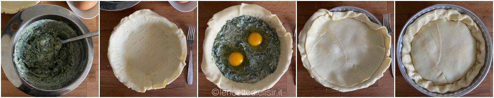 Torta Pasqualina ricetta facile tipica di Pasqua passaggi